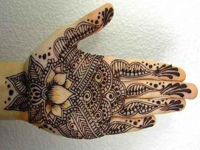 Henna designs with shaded floral pattern