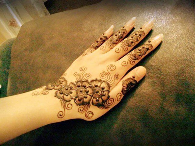 Artistic floral henna designs