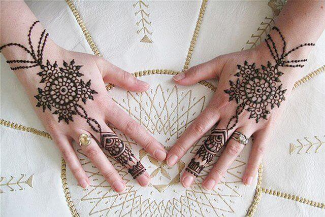 Bracelet style henna designs