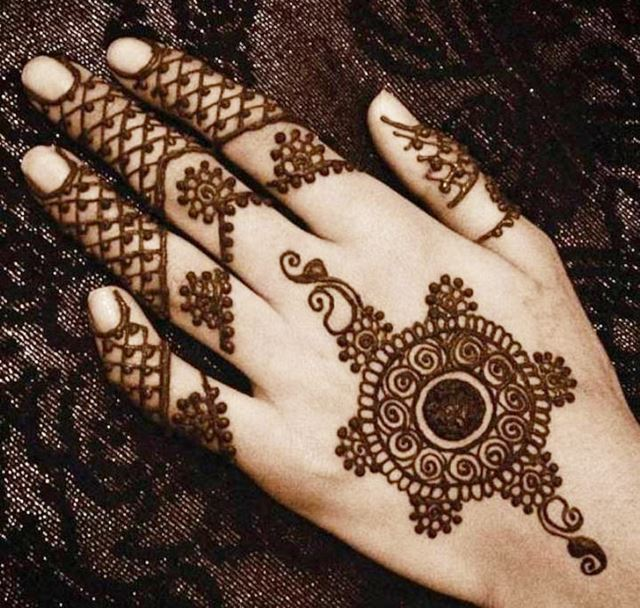 Fishnet Henna designs