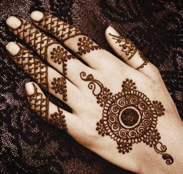 Fishnet Henna designs