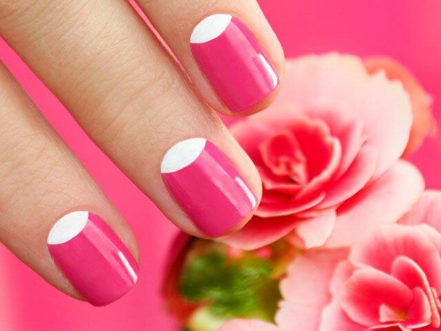 Half Moon Nail Art Designs