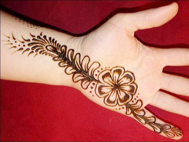 Henna designs with simple flowers