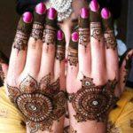 Henna designs with stone work