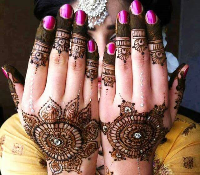 Henna designs with stone work