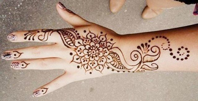 Intricate henna designs