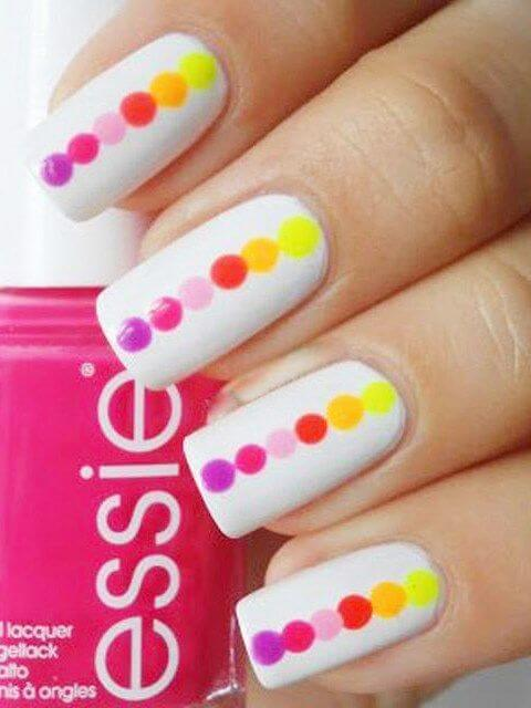Multicolor Dotted Nail Art Designs