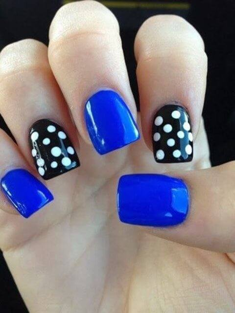 Simple Polka Dot Nail Art Designs