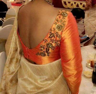 Beautiful copper brown embroidery