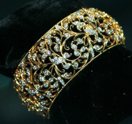 Broad Diamond Bangles