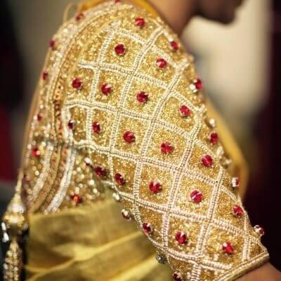 Royal golden sequin blouse