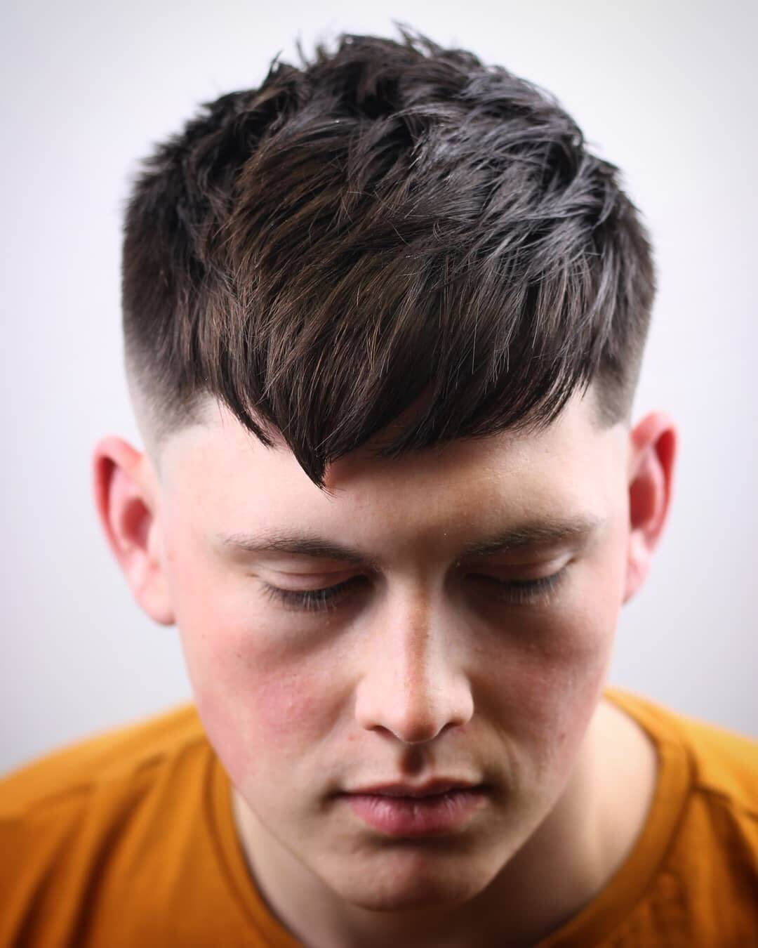 Textured Haircut with Fringe
