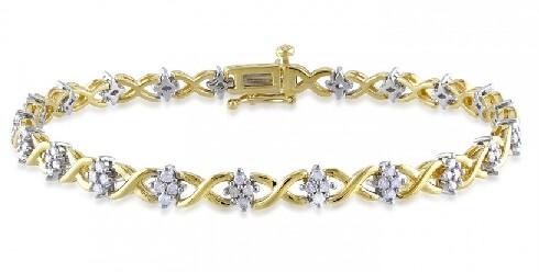 The Sterling Yellow Gold Diamond Bracelet
