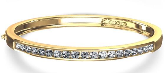 The Yellow Gold Diamond Bangle