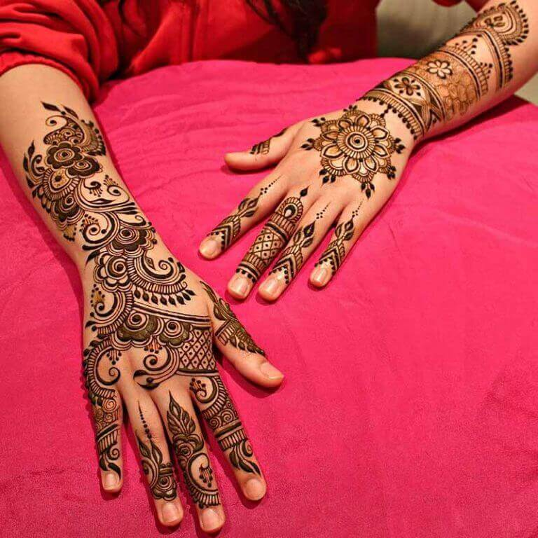 Mehndi Designs For Back And Front Sides