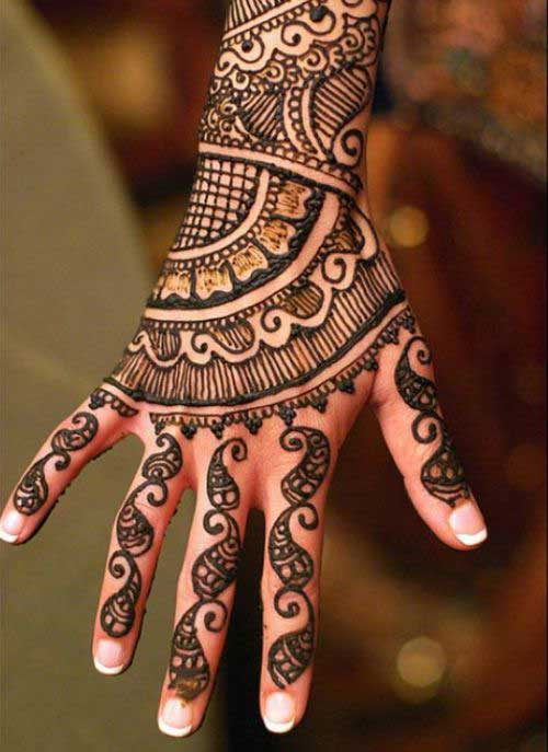 Mehndi Designs For Back Sides