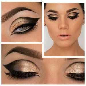 Gold and Bronze Makeup Look